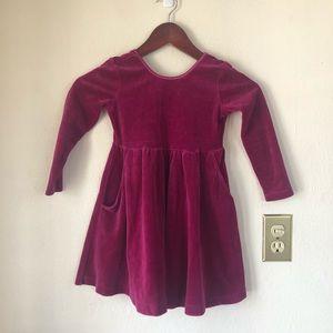 Hanna Andersson Kids Girls Pink Velour Dress